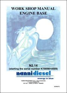 Nanni N2.14 Marine Diesel Engine after KTB09010509 Workshop Manual