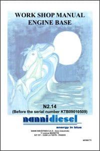 Nanni N2.14 Marine Diesel Engine before KTB09010509 Workshop Manual