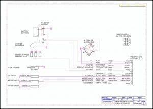 Nanni N3.30 marine diesel engine Wiring Diagrams