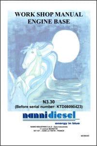Nanni N3.30 Marine Diesel Engine before KTD08090423 Workshop Manual