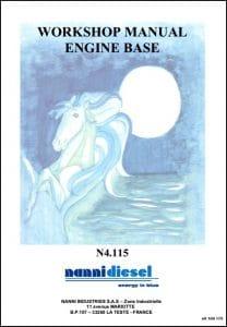 Nanni N4.115 Marine Diesel Engine Workshop Manual