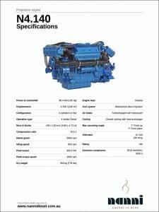 Nanni N4.140 diesel engine Specifications