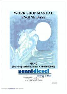 Nanni N4.40 diesel engine Workshop manual