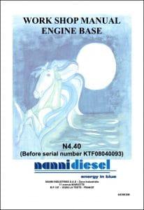 Nanni N4.40 Marine Diesel Engine before KTF08040093 Workshop Manual
