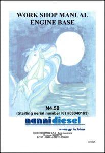Nanni N4.50 Marine Diesel Engine starting KTH08040183 Workshop Manual