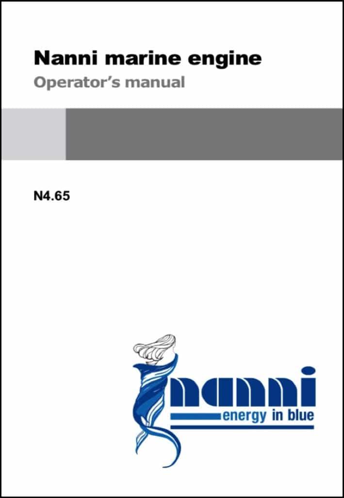 Nanni N4.65 Marine diesel Engine Operator Manual