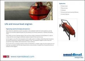 Nanni SOLAS Diesel Engines Brochure