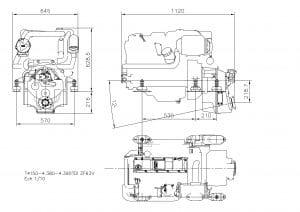 Nanni T4.155 diesel engine Drawing