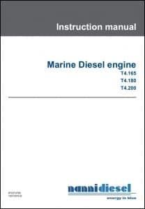 Nanni T4.165 Marine Diesel Engine Instruction Manual