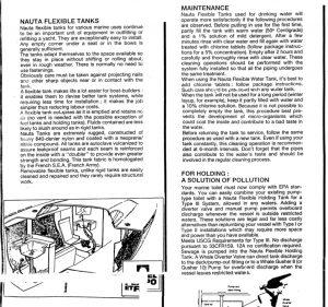 Nauta Flexible Tank Instructions