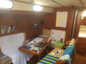 In the office - daily work on the Marine Diesel Basics project continues