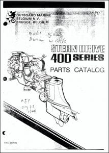 OMC 400 Series Sterndrive Parts Catalog