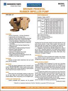 Oberdorfer 201M Series impeller pumps Datasheet