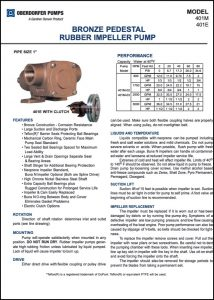 Oberdorfer 401M raw water pump Guide & Parts