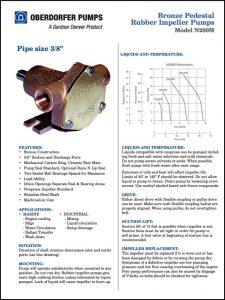 Oberdorfer N200M Rubber impeller Pump Guide & Parts