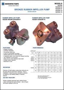 Oberdorfer N202M Series impeller pumps Datasheet