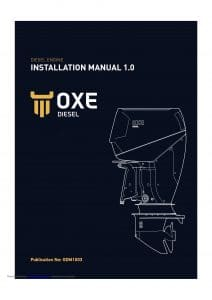 Oxe Diesel 150 HP outboard Installation Manual