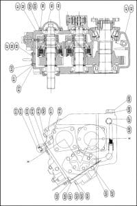 PRM marine transmission 1000 Parts List