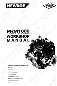 PRM marine transmission Workshop Manual and Parts manual