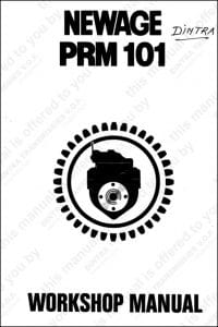 PRM 101 marine transmission gearbox Workshop manual and parts list