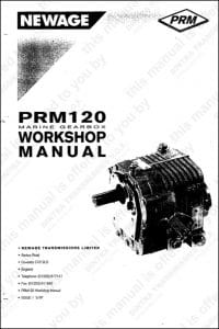 PRM 120 marine transmission Workshop manual