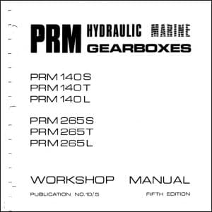 PRM 140S marine transmission Workshop Manual