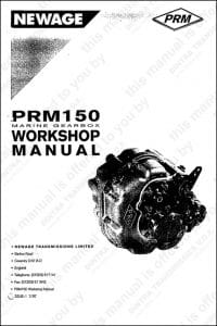 PRM marine transmission 150 Workshop manual