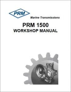 PRM 1500 marine transmission Workshop manual and parts list