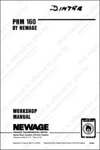 PRM marine transmission 160 Workshop manual