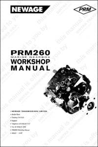 PRM marine transmission 260 Workshop manual