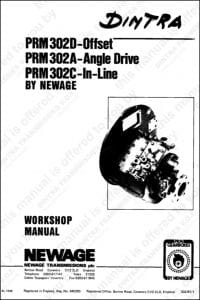 PRM marine transmission 302 Workshop manual