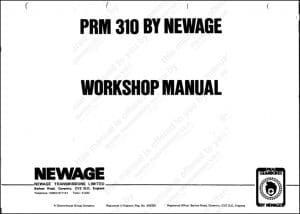 PRM marine transmission 310 Workshop manual