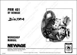PRM marine transmission 401 Workshop manual