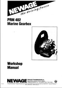 PRM 402 marine transmission gearbox Workshop manual and parts list