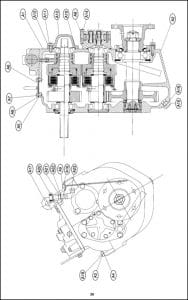 PRM marine transmission 500 Parts List