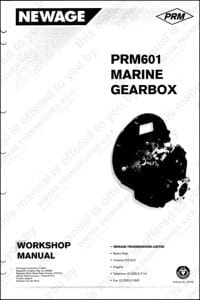 PRM marine transmission 601 Workshop manual