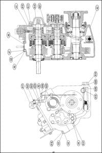PRM marine transmission 750 Parts List