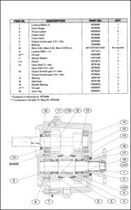 PRM 80 Marine Transmission Parts manual