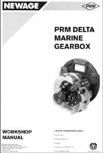 PRM marine transmission Delta Workshop manual
