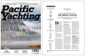 Decommissioning feature in latest issue of Pacific Yachting