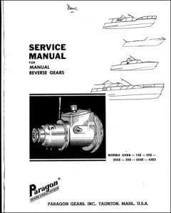Paragon marine transmission gearbox OXKB Service