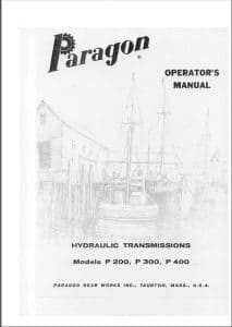 Paragon Marine Transmission Gearbox P200 Operator manual