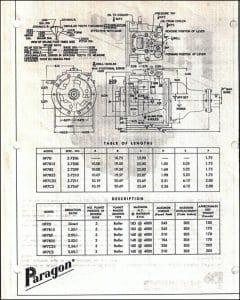 Paragon marine transmission dimensions drawing