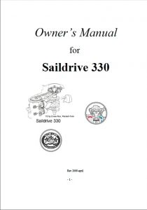 Parsun Saildrive 330 Owners Manual