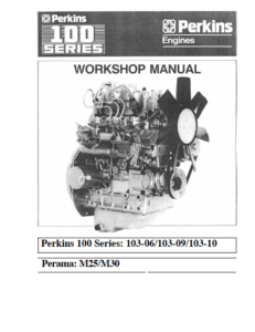 Perkins diesel engine 100 series workshop manual