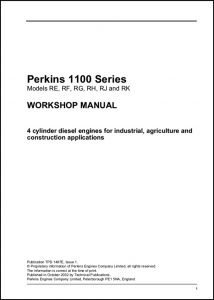 Perkins 1100 Series diesel engines Workshop Manual