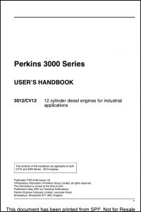 Perkins 3000 Series Users Handbook