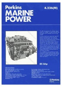 Perkins 4.236(M) marine diesel engine Brochure