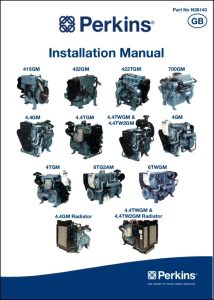 Perkins 415GM etc marine diesel engines Installation Manual