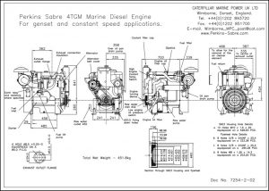 Perkins 4TGM diesel engine Installation Drawing